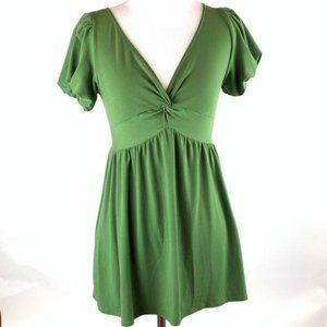 Max Studio top sz Xs Green knotted balloon sleeve